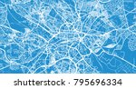 urban vector city map of leeds  ... | Shutterstock .eps vector #795696334