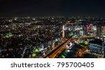 night light yokohama cityscape... | Shutterstock . vector #795700405
