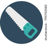 saw colored illustration vector ... | Shutterstock .eps vector #795703585