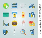 icon set about travel. with... | Shutterstock .eps vector #795704455
