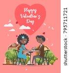 valentines day vector... | Shutterstock .eps vector #795711721