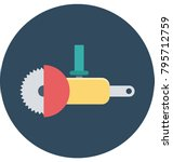 circular saw colored... | Shutterstock .eps vector #795712759
