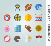 icon set about united states.... | Shutterstock .eps vector #795715645