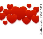 paper hearts background for... | Shutterstock .eps vector #795716311