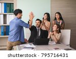 business meeting of business... | Shutterstock . vector #795716431