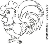 coloring page outline of... | Shutterstock .eps vector #795721579