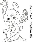 coloring page outline of... | Shutterstock .eps vector #795721591
