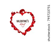 elegant background. valentine's ... | Shutterstock .eps vector #795723751