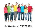 portrait of happy smiling group ... | Shutterstock . vector #79572523