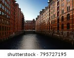 the speicherstadt  or warehouse ... | Shutterstock . vector #795727195