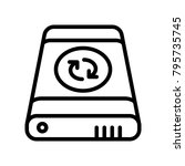 data recovery   external sync | Shutterstock .eps vector #795735745
