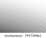black and white halftone... | Shutterstock .eps vector #795739861