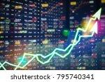 stock market digital graph... | Shutterstock . vector #795740341