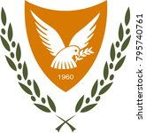 coat of arms of cyprus... | Shutterstock .eps vector #795740761