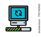data recovery   desktop  sync | Shutterstock .eps vector #795740965