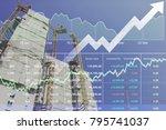 stock financial research data... | Shutterstock . vector #795741037
