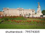 buckingham palace and victoria... | Shutterstock . vector #79574305