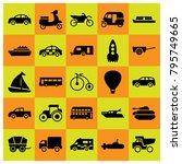 transport vector icons set....   Shutterstock .eps vector #795749665