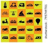 transport vector icons set....   Shutterstock .eps vector #795749701