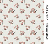 fashion pattern with pink nude... | Shutterstock .eps vector #795751549