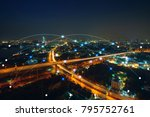 smart city and communication... | Shutterstock . vector #795752761