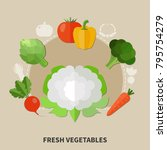 healthy eating colored...   Shutterstock .eps vector #795754279