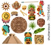 colorful mexican decorative... | Shutterstock .eps vector #795754354