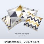 decorative interior cushions... | Shutterstock .eps vector #795754375