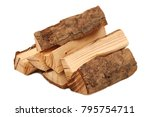 Pile Of Firewood Isolated On A...
