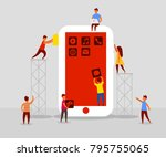 small people character... | Shutterstock .eps vector #795755065