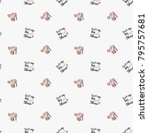 fashion pattern with do not cry ... | Shutterstock .eps vector #795757681