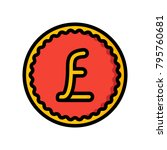 ecommerce   pound coin  | Shutterstock .eps vector #795760681
