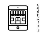 ecommerce    mobile shop    Shutterstock .eps vector #795762025