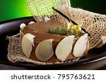 chocolate cake still life | Shutterstock . vector #795763621