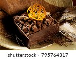 chocolate cake still life | Shutterstock . vector #795764317