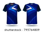 soccer jersey template.blue and ... | Shutterstock .eps vector #795764809