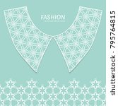 vector fashion background.... | Shutterstock .eps vector #795764815