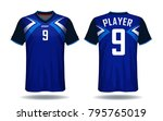 soccer jersey template.blue and ...   Shutterstock .eps vector #795765019