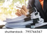 businessman hands working in... | Shutterstock . vector #795766567