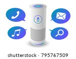 voice control user interface... | Shutterstock .eps vector #795767509