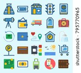 icons set about travel. with... | Shutterstock .eps vector #795770965
