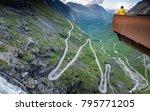 famous trollstigen road in... | Shutterstock . vector #795771205