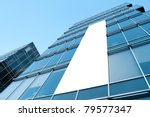 blue glass wall with blank... | Shutterstock . vector #79577347