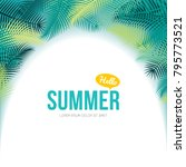 time of summer vacation. vector ... | Shutterstock .eps vector #795773521