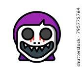 horror emoji   demon girl  | Shutterstock .eps vector #795773764