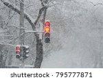 winter. snow is bad weather | Shutterstock . vector #795777871