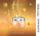 digital vector gold oil essence ...   Shutterstock .eps vector #795778381