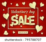 valentines day sale background...   Shutterstock .eps vector #795788707