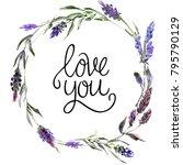 valentine flower wreath....   Shutterstock . vector #795790129