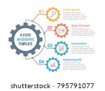 infographic template with gear...   Shutterstock .eps vector #795791077